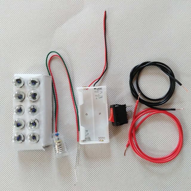 Electrical Circuit Experiment Kindergarten Primary And Secondary Light Bulb Lamp Switch 25V Battery Box