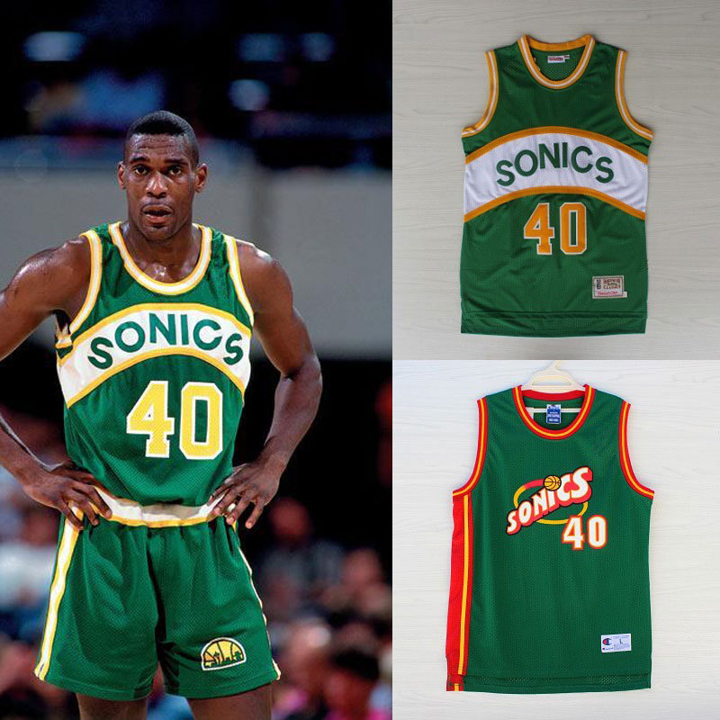 Free shipping new arrival Seattle  40 Shawn Kemp Sonics Jersey top quality  shirt Basketball jersey hot selling throwback jersey 477b67ccd58e