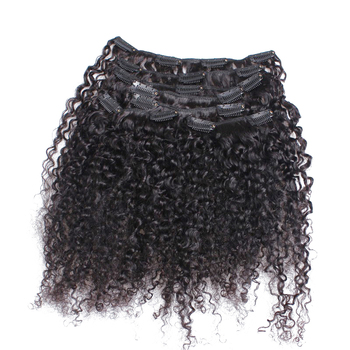 3B 3C Kinky Curly Clip In Human Hair Extensions Full Head Sets 100% Human Natural Hair Clip Ins VENVEE Brazilian Remy Hair