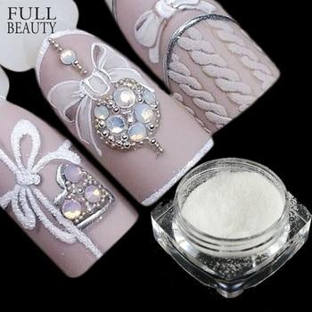 Full Beauty 1 bottle Sugar Candy Coat Glitter Nail Pigment DIY Designs for Women Nail Art Decorations Dust Nail Glitter CHTY0105