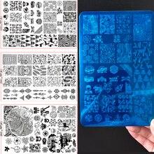 Christmas New Nail Stamping Plates Metal Print Tree Mandala Flower Leaf Press DIY Stamp