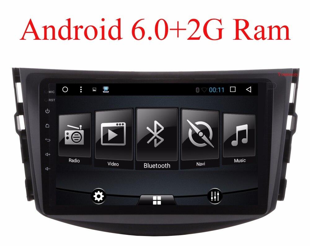 imágenes para ¡ NUEVO!!! Android 6.0 coches reproductor de dvd para Toyota RAV4 Rav 4 2007 2008 2009 2010 2011 2 din 1024*600 dvd del coche de navegación gps wifi rds