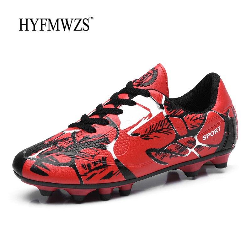 Turnschuhe Herrlich Hyfmwzs Chuteira Futebol Jungen Fußball Schuhe Für Männer Lange Spikes Fußballschuhe Vorlage Superfly Trainer Footbal Atmungs 2018
