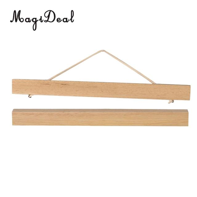 MagiDeal Magnet Ramin Wooden Picture Frame DIY Poster Painting Hanger for Living/ Dining room bedroom kitchen office hotel 30cm