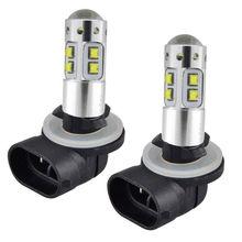 2PCS 881 100W Car White LED Headlight Bulbs For Polaris Sportsman 300 400 450 500 550