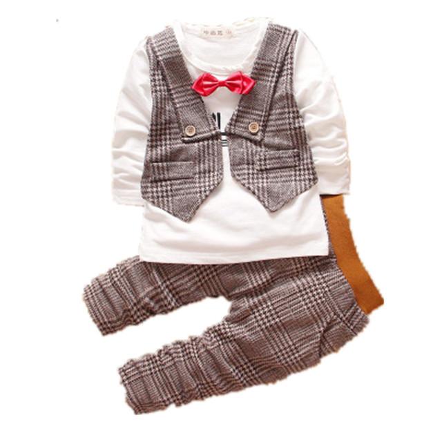 El Nuevo Sello de La Primavera y Otoño Ropa Niños Traje Largo 6 Meses Infantil Ropa Infantil 0-1-2-3 Años de Edad, ClothesF805