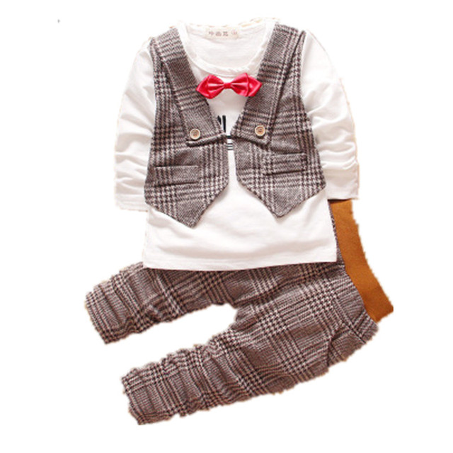 The New  Label In  Spring &Autumn Outfit Boys Long Suit 6 Months Infant Children'S Clothing 0-1-2-3 - Year - Old ClothesF805