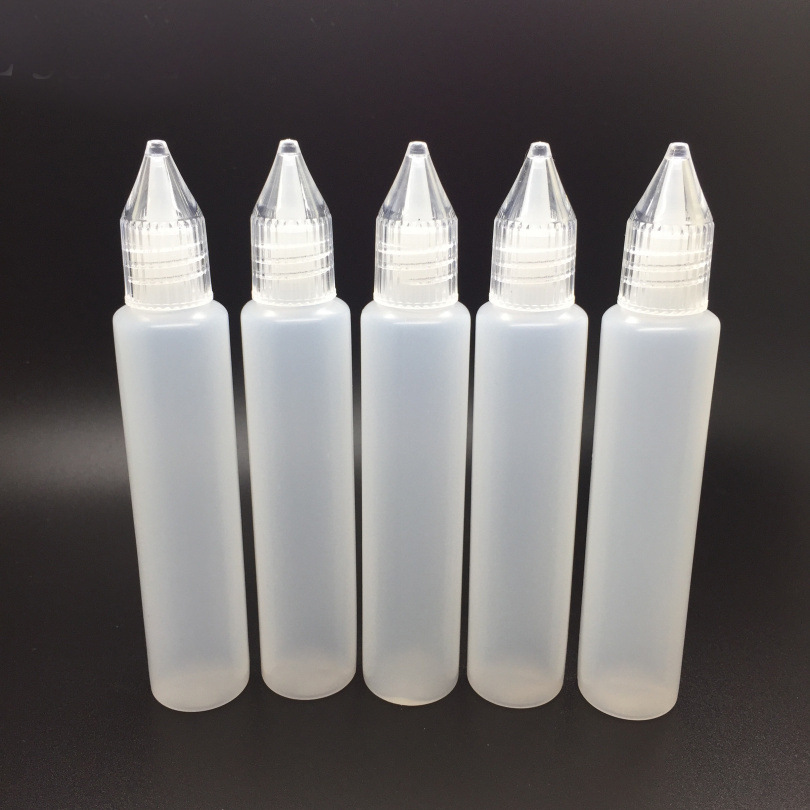 5pcs 15ml 30ml Pen-shaped Unicorn Oil Bottle Empty Plastic Squeeze Liquid Dropper Bottle With Metal Needle Tip Oil Bottle