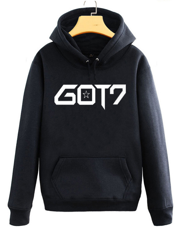 Kpop GOT7 same paragraph keep warm Casual hoodies Korea men and women autumn winter printing sweatshirts lovers Harajuku tops