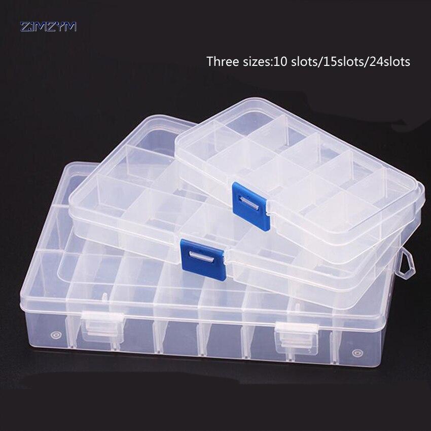 1 StÜck Neue 15 Slots Zellen Tragbare Schmuck Werkzeug Box Container Ring Elektronische Teile Schraube Perlen Komponente Aufbewahrungsbox Ruf Zuerst