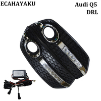 ECAHAYAKU Car Styling DRL Daytime Running Light 12V Car Light Fog Driving Lamp Bright White 6000K
