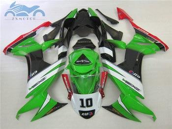 Custom motorcycle fairing KIT for Kawasaki Ninja ZX10R 2008 2009 2010 green black bodywork road racing Fairings ZX 10R 08 09 10