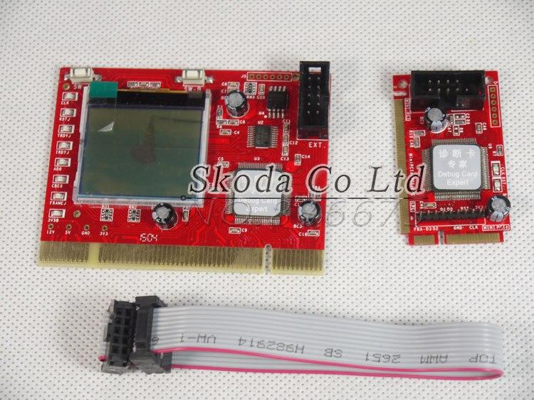 Free shipping Diagnostic Test Debug king Post Card PC pci mini pci-e/LPC port for Laptop and Desktop kqcpet6 v6 type b debug desktop laptop computers mobile phone diagnostic card for pci pcie lpc minipci e ec l22