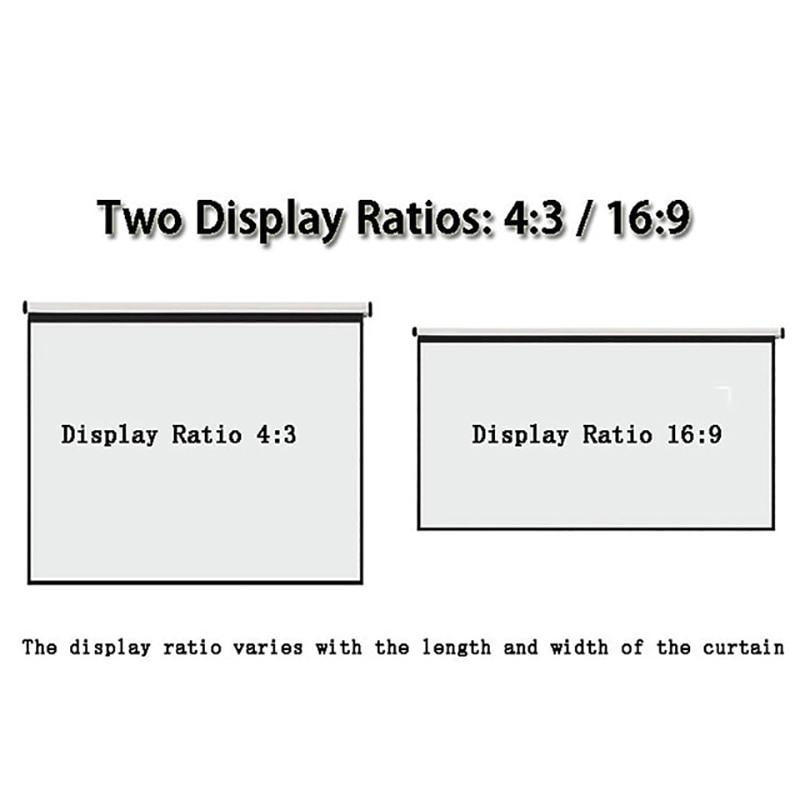 Perde Thinyou dhe ekrani i projektorit dore 100 inç 4: 3 pantalla - Audio dhe video në shtëpi - Foto 2