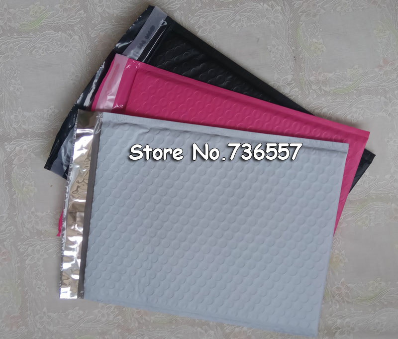 Pink Redish 260*370mm Usable Space Poly Bubble Mailer Envelopes Outer 280*370mm Padded Mailing Bag Self Sealing 20pcs