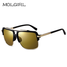 New Style Men's plate square Sunglasses Ladies mirror lens sun Glasses fashion women 2016