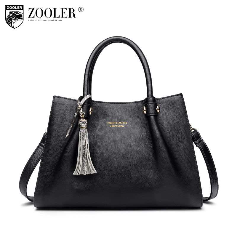 ZOOLER losing sales 2018 NEW genuine leather bag woman leather handbags top handle 100% cowhide woman bags bolsa feminina#h109 sales zooler brand genuine leather bag shoulder bags handbag luxury top women bag trapeze 2018 new bolsa feminina b115