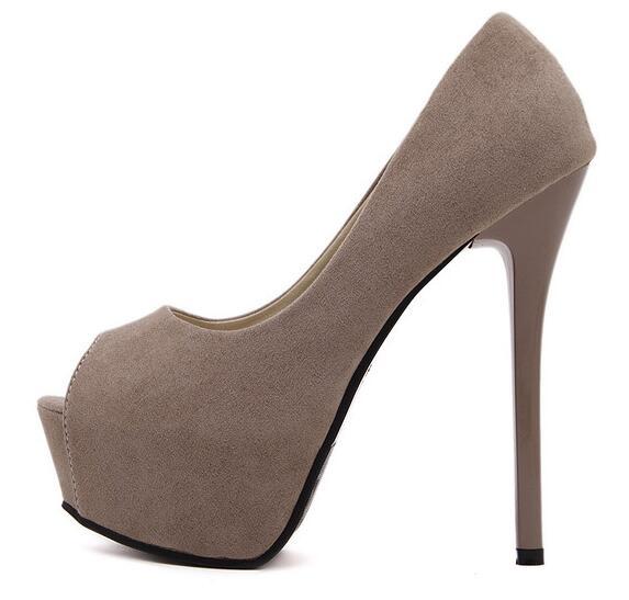 European Style 14 CM high heel shoes sexy platform pumps for woman peep toe dress heels club wear shoes office lady pumps