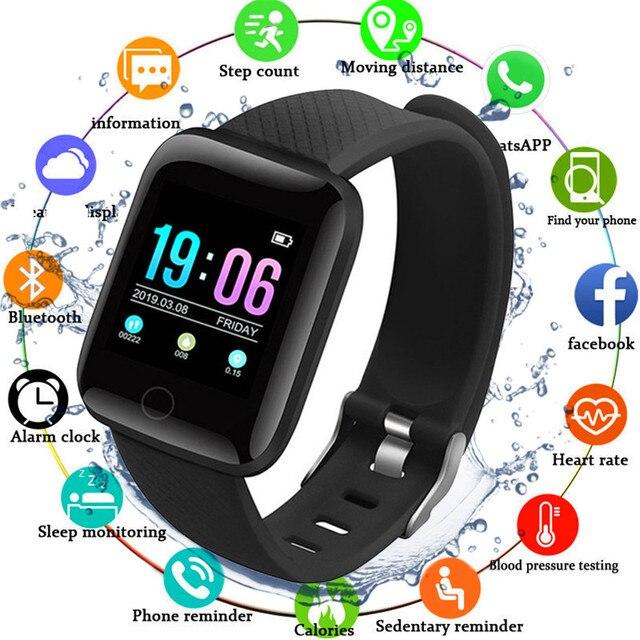 Smart Health Bracelet Heart Rate Blood Pressure Fitness Bracelet Pedometer Activity Tracker Waterproof Watch for Men Women