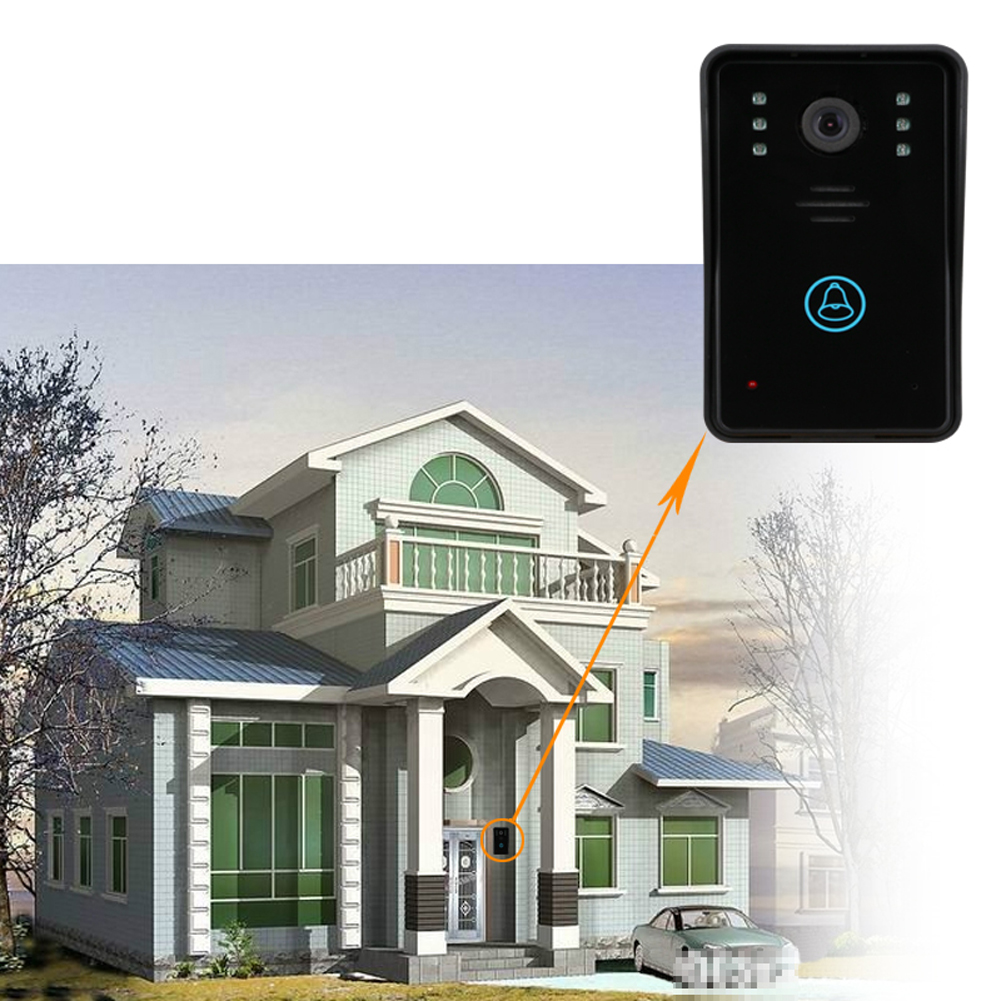 7 Video Door Phone Intercom Doorbell ID Card Code Remote Unlock Night Vision Rainproof Security CCTV Camera