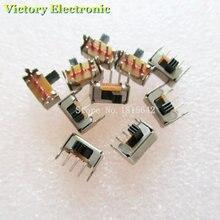 New 20PCS/Lot 3 Pin PCB 2 Position 1P2T SPDT Miniature Slide Switch Side Knob SK12D07VG3