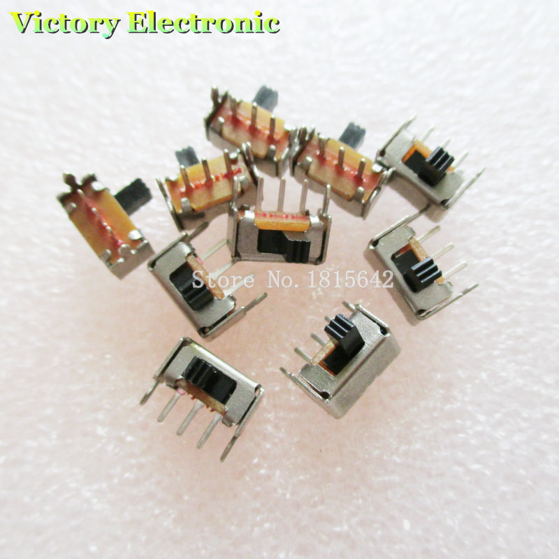 New 20PCS/Lot 3 Pin PCB 2 Position 1P2T SPDT Miniature Slide Switch Side Knob SK12D07VG3
