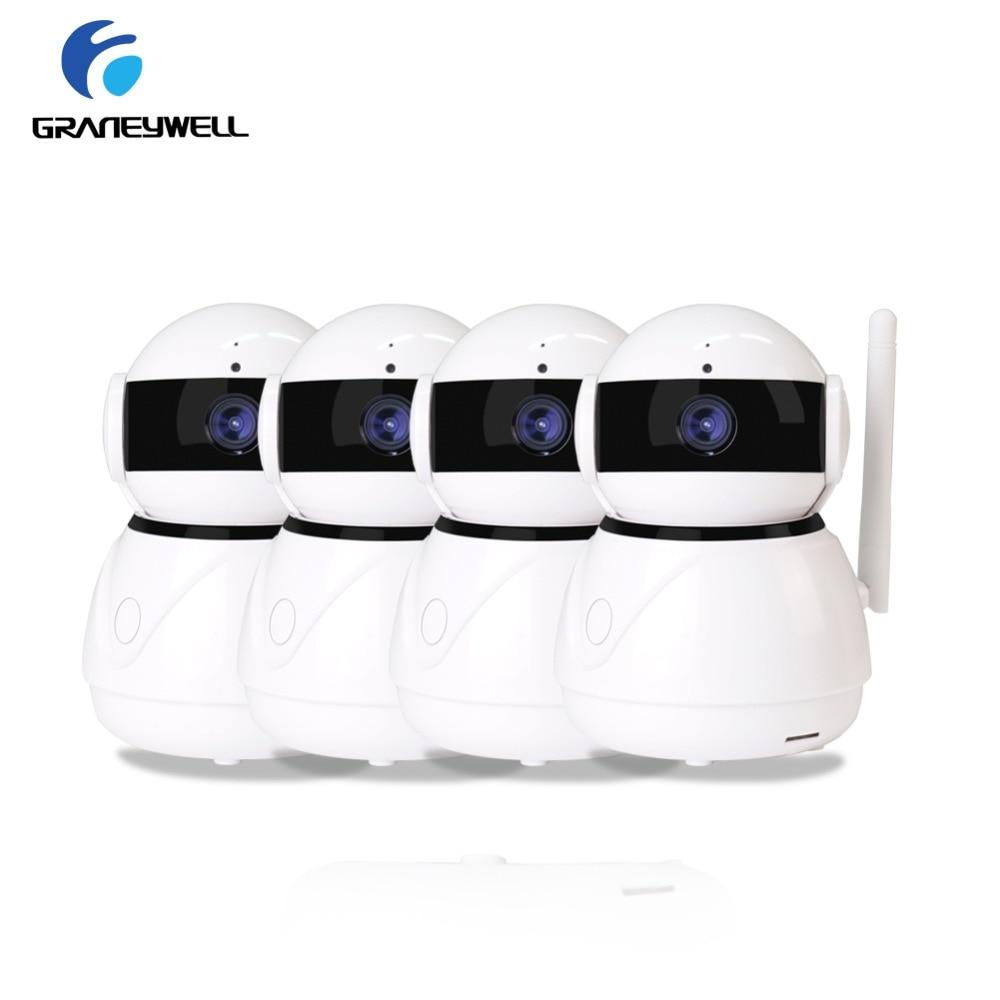 4 PCS Graneywell IP Camera 1080P Wifi HD 2MP CCTV Camera IR Night Vision P2P Home