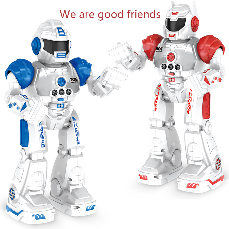 2018 Hot Programmable Defender Intelligent RC Remote Control High Tech Toy Dancing Robot for Kids Birthday Gift Present