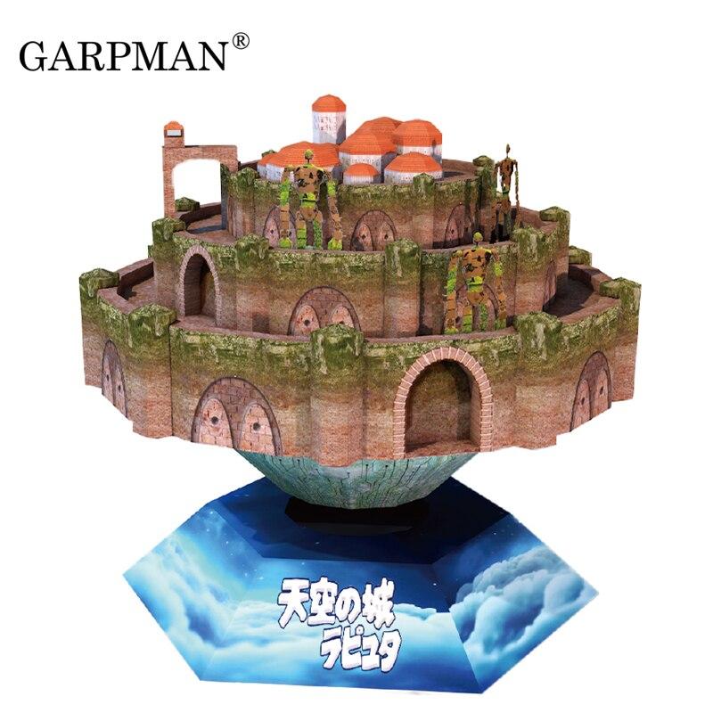 Hayao Miyazaki Sky City La Puda Hardcover 3D Stereo Modello di Carta FAI DA TE Manuale Disposizione di Music BoxHayao Miyazaki Sky City La Puda Hardcover 3D Stereo Modello di Carta FAI DA TE Manuale Disposizione di Music Box