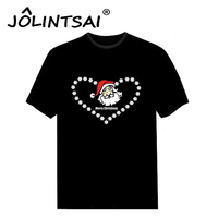 Unieke Mannen Kleding Kerst Tshirts Sound Activated Led T-shirts knipperende Equalizer EL T-Shirt Mannen voor Rock Disco Party DJ Top