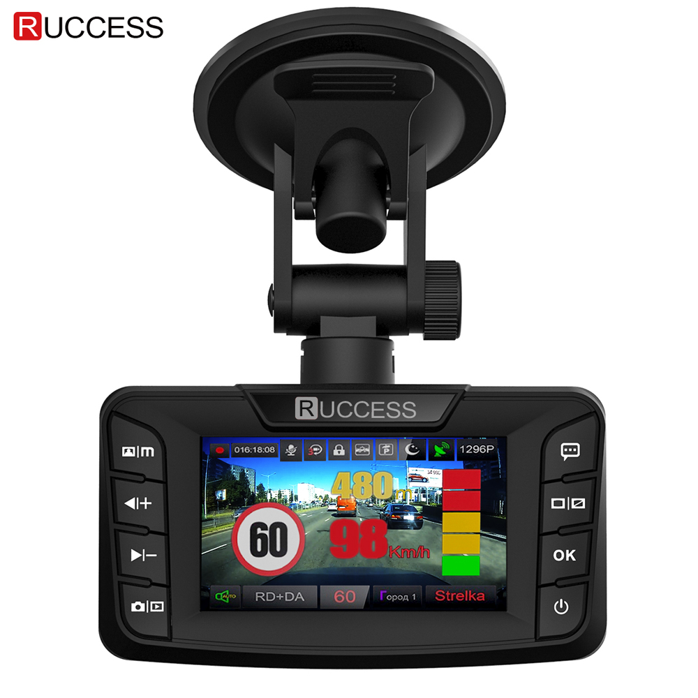 Ruccess радар детектор s 3 в 1 DVR Радар детектор gps Анти радар для автомобиля Full HD 1296 P автомобильная камера 1080 P видео рекордер Авто Cam