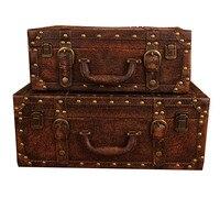 Чемодан, чтобы сделать старый ящик для хранения деревянный ящик дисплей фотографии реквизит украшения