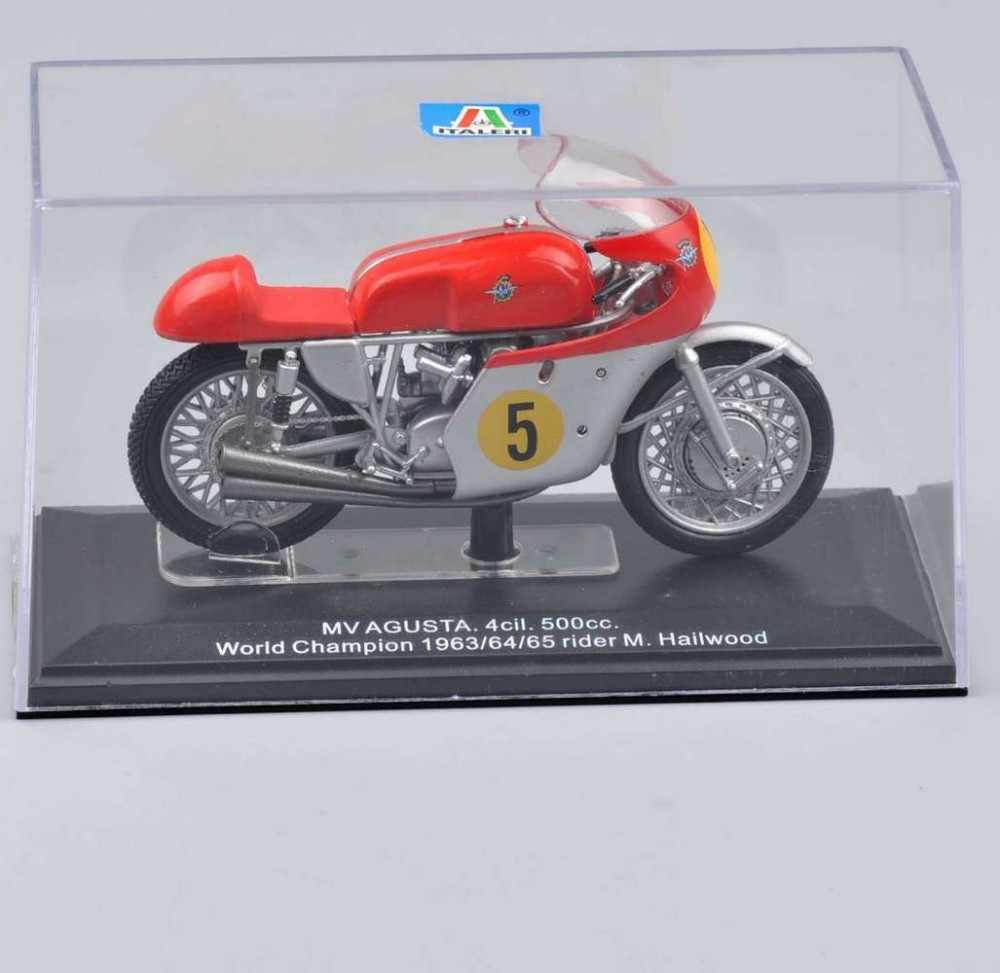 Mainan Murah 1/22 Skala MV AGUSTA.4cil. 500cc Juara Dunia 1963/64/65 RIDER M. hailwood Motor Diecast Model Toys