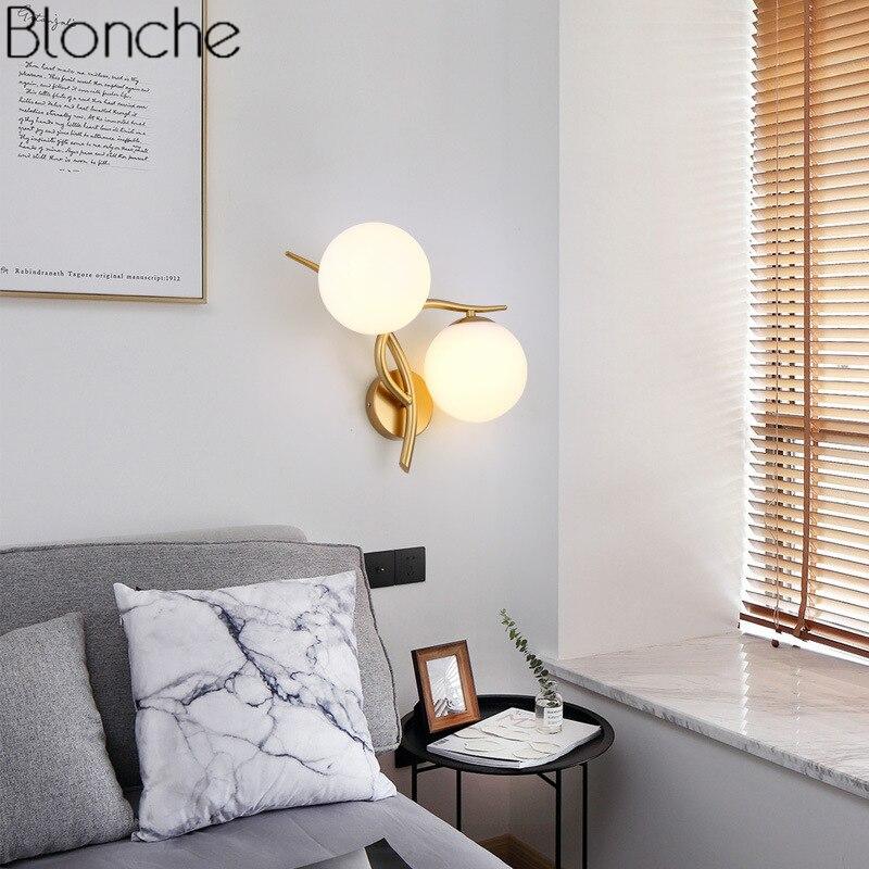 bola de vidro moderna lampada parede led 02
