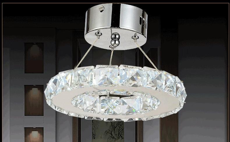 Moderne Kronleuchter Edelstahl ~ Watt led k kristall kronleuchter edelstahl ring kristall lampe