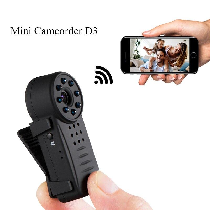 Mini Camcorder IP P2P Wifi Camera IR Night Vision Pen Camera 8 LED Light HD 1080P Motion Detection Voice Control Video Recorder