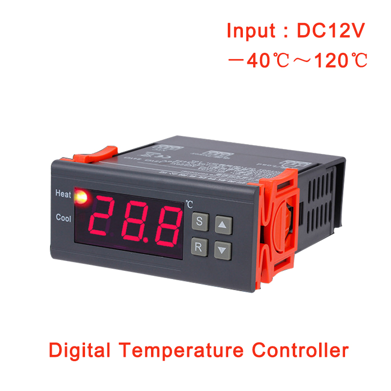 LED Digital Temperature Controller 12V 24V 110V 220V Thermoregulator thermostat for incubator Relay LED With Heater And Cooler image