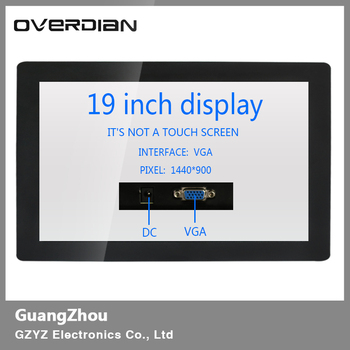"""19inch/19"""" Industrial Control Lcd Non-Touch Screen Monitor VGA Interface Metal Shell Buckle Fixed 1440*900"""