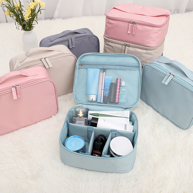 DINIWELL Waterproof Travel Cosmetic Storage Bags Beauty Case Women Makeup Organizer Portable Large Capacity Toiletry Pouch Bag girls cute makeup bags portable women cotton organizer cosmetic bag thicken beauty pouch storage bag cosmetic toiletry bags