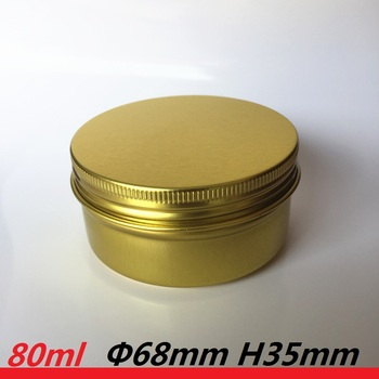 80ml tin can candle container 80g Empty gold candle tins  yellow gold Aluminum Jar metal gold candle holders for wedding gift