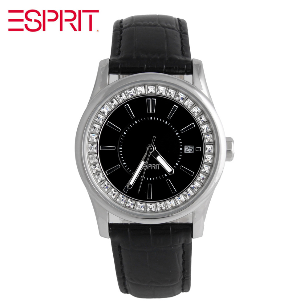 MS ESPRIT black diamond disc belt quartz watch ES105452002 оттяжка black diamond black diamond positron quickdraw 12см