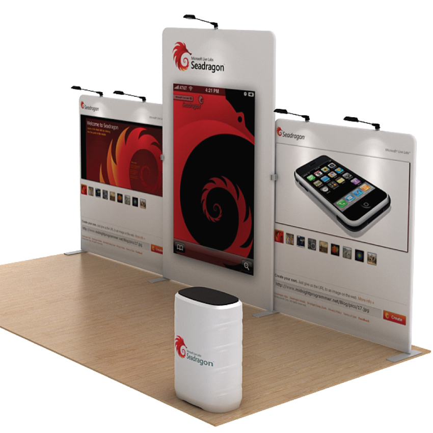 Portable Exhibition Kit : Ft portable trade show booth pop up display backrop wall
