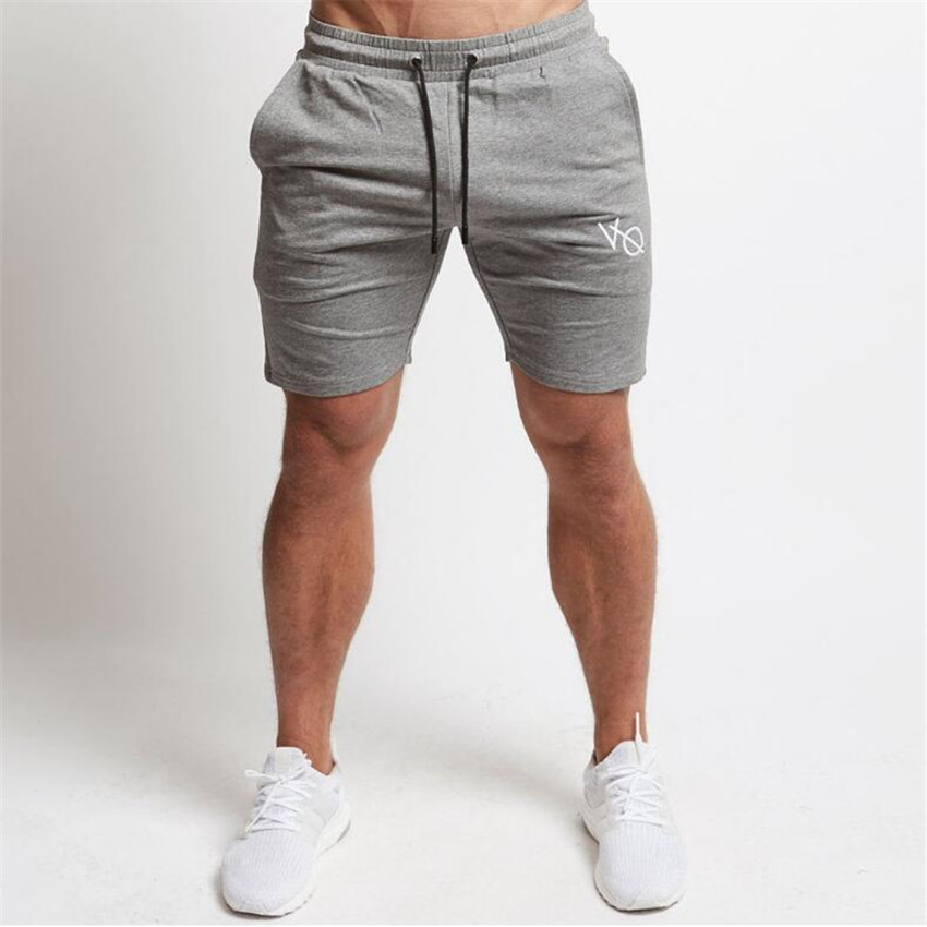 Summer Men   Shorts   New Gyms Fitness Exercise Men's   Shorts   2018 Men s Fashion Tide Brand Casual Embroidery Cotton Mens   Shorts