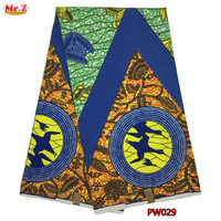 Mr Z 2017 Embroidered Prints Ankara Wax Fabric African Design Polyester Aso Ebi Wax Materials For