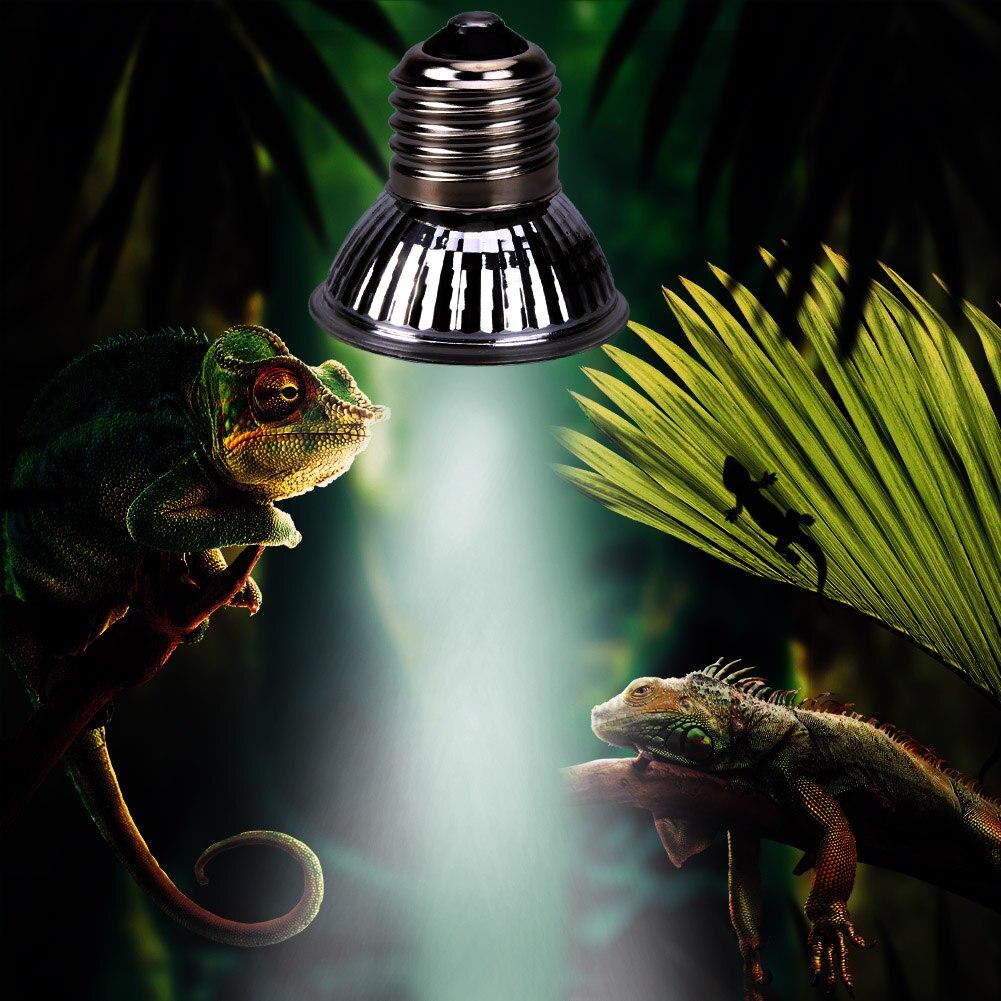 Reptile Tortoise UVA+UVB 3.0 Heating Lamp Full Spectrum Sunlamp Basking Pet Heat Lamp Bulb 25W/50W/75W
