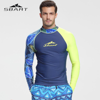 SBART Scuba Diving Quick Dry Diving Suit Swimsuit Snorkeling Swimming Surfing Rash Guard Long Sleeves T