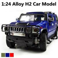 50% İndirim 1:24 Gelişmiş alaşım araba modelleri, Süper SUV, Metal H2 Diecasts Oyuncak Araçlar, Koleksiyonları Arabalar, Ücretsiz kargo