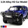 50% de descuento 1:24 avanzada modelos de automóviles de aleación, súper suv, a troquel del Metal H2 juguete, colecciones coches, envío gratis