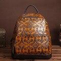 Новый ретро досуг сумка мужчины и женщины досуг рюкзак первый слой кожи рюкзаки протрите цвет рюкзак