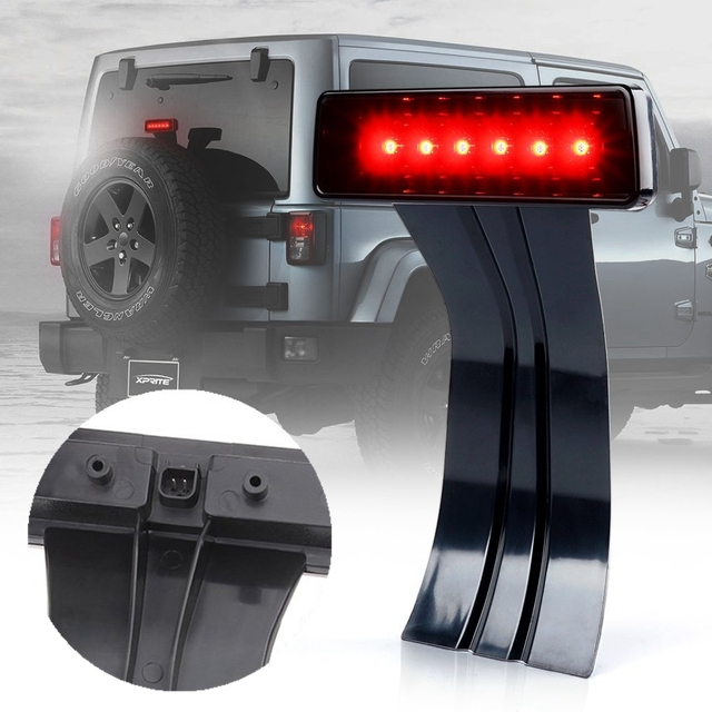 LED 3rd Third Brake Light 2007-2017 for Jeep Wrangler JK Brake Tail Light Lamp High Mount Stop Light Rear